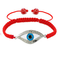 Bracelets - evil eyes bracelets clear white crystal hamsa hand evil eye light red bracelets Image.