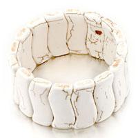 Bracelets - hot classic white turquoise murano glass bracelet gift for women Image.