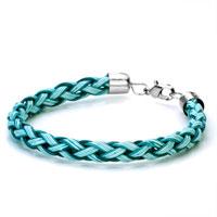 Bracelets - fashion blue woven rope clasp bracelet Image.