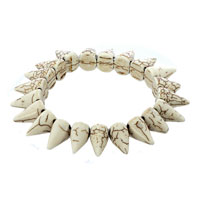 New Year Deals - genuine gray gemstone chips chunky stretch bracelet Image.