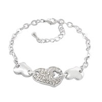Theme Jewelry - clear white crystal fashion dangle heart love ankle bracelet for women Image.