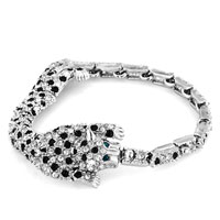 Bracelets - tiger swarovski elements crystal adjustable lobster clasp bracelet for women Image.