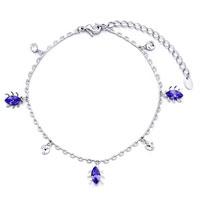 Bracelets - chain beetle crystal round ankle bracelet anklet lobster clasp Image.