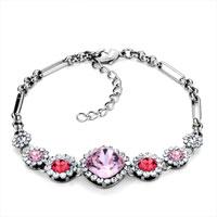 Bracelets - multicolor crystal adjustable lobster clasp ankle bracelet for women Image.