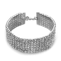 Bracelets - women' s fashion clear crystal adjustable lobster clasp bracelet Image.