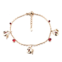 New Year Deals - purse handbag ankle bracelet red crystals anklet lobster clasp Image.