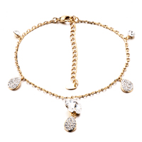 New Year Deals - tear crystal drop ankle bracelet anklet lobster clasp for girls Image.