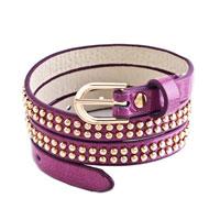 Bracelets - studded bright yellow leather bracelet Image.