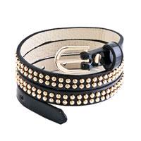 Bracelets - studded black leather bracelet Image.