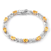 Bracelets - light yellow diamond cubic zirconia tennis accent infinity bracelet Image.