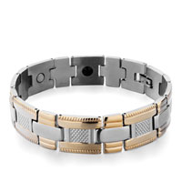 Bracelets - men's stainless steel bracelets cuff bangle bracelets alternate links celtic crosses men's bracelet Image.