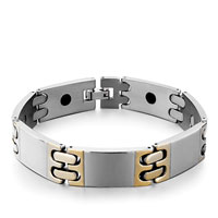 Bracelets - men's stainless steel bracelets cuff bangle bracelets 7 links men's bracelet Image.