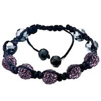 Bracelets - shambhala bracelet unisex amethyst purple swarovski elements crystal Image.