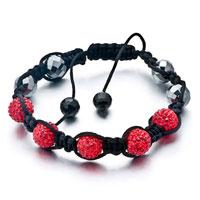 Bracelets - shambhala bracelet unisex crystal disco ball friendship Image.