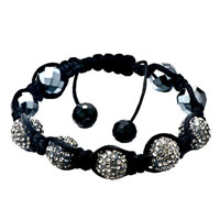 New Year Deals - shambhala bracelet unisex gray swarovski elements crystal acrylic Image.