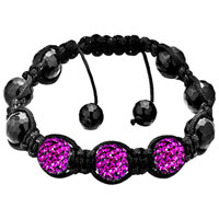 New Year Deals - shambhala bracelet unisex amethyst purple swarovski elements Image.