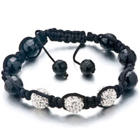 New Year Deals - shambhala bracelet unisex clear white swarovski elements crystal Image.
