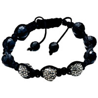 New Year Deals - shambhala bracelet unisex gray swarovski elements Image.