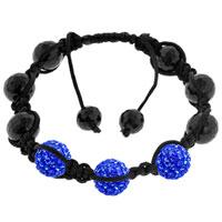 New Year Deals - shamballa bracelet unisex sapphire blue swarovski Image.