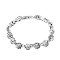 Bracelets - apr birthstone clear white crystal love bracelet Image.