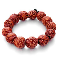 Man's Jewelry - mothers day gifts enchanted brown dragon pearl bracelet bead Image.