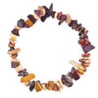 Bracelets - natural healing crystal fire agate brown chip stone gemstone stretch bracelet Image.