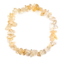 Bracelets - natural healing crystal fire agate light yellow chip stone gemstone stretch bracelet Image.