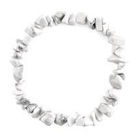 Bracelets - natural healing crystal fire agate ivory white chip stone gemstone stretch bracelet Image.