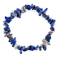 Bracelets - natural healing crystal fire agate sapphire blue chip stone gemstone stretch bracelet Image.