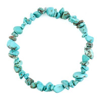 Bracelets - natural healing crystal fire agate turquoise chip stone gemstone stretch bracelet Image.