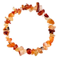 Bracelets - natural healing crystal fire agate multicolor chip stone gemstone stretch bracelet Image.