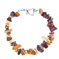 Bracelets - handmade genuine brown natural gem stone chips bracelet Image.
