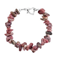 Bracelets - handmade genuine rose natural gem stone chips bracelet Image.