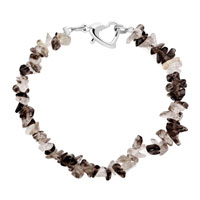 Bracelets - handmade genuine dark coffee natural gem stone chips bracelet Image.