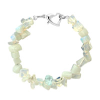 Bracelets - handmade genuine clear natural gem stone chips bracelet Image.