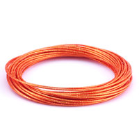 Stainless Steel Jewelry - fashion orange multistrand wire bracelet Image.