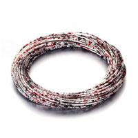 Bracelets - january birthstone garnet red silver tone wire bracelet Image.