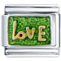 Italian Charms - golden italian charm bracelet love letter Image.