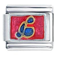 Italian Charms - blue music note gift italian charm Image.