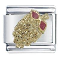 Italian Charms - golden grapes italian charm bracelet Image.