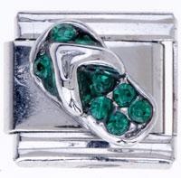 Italian Charms - green sandal gift birthstone italian charm Image.