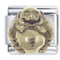 Italian Charms - italian charm stainless steel 14 k gold plated laughing religious italian charm Image.