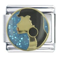Italian Charms - enamel actress natalie wood stainless steel base italian charm 9 mm Image.