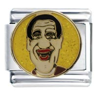 Italian Charms - enamel entertainer jimmy durante italian charm link stainless steel Image.