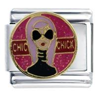 Italian Charms - chic chick gift italian charm Image.