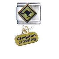 Italian Charms - kangaroo celtic crossing inspriational italian charm dangle italian charm Image.