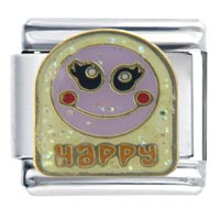 Italian Charms - happy face italian charms Image.