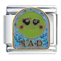 Italian Charms - sad face italian charms Image.