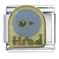 Italian Charms - tired face autumn fashion jewelry italian charm Image.
