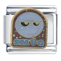 Italian Charms - smug face march fashion jewelry italian charm Image.